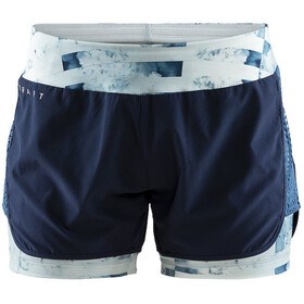 Craft Charge 2-in-1 Shorts Dame blaze/print jumble